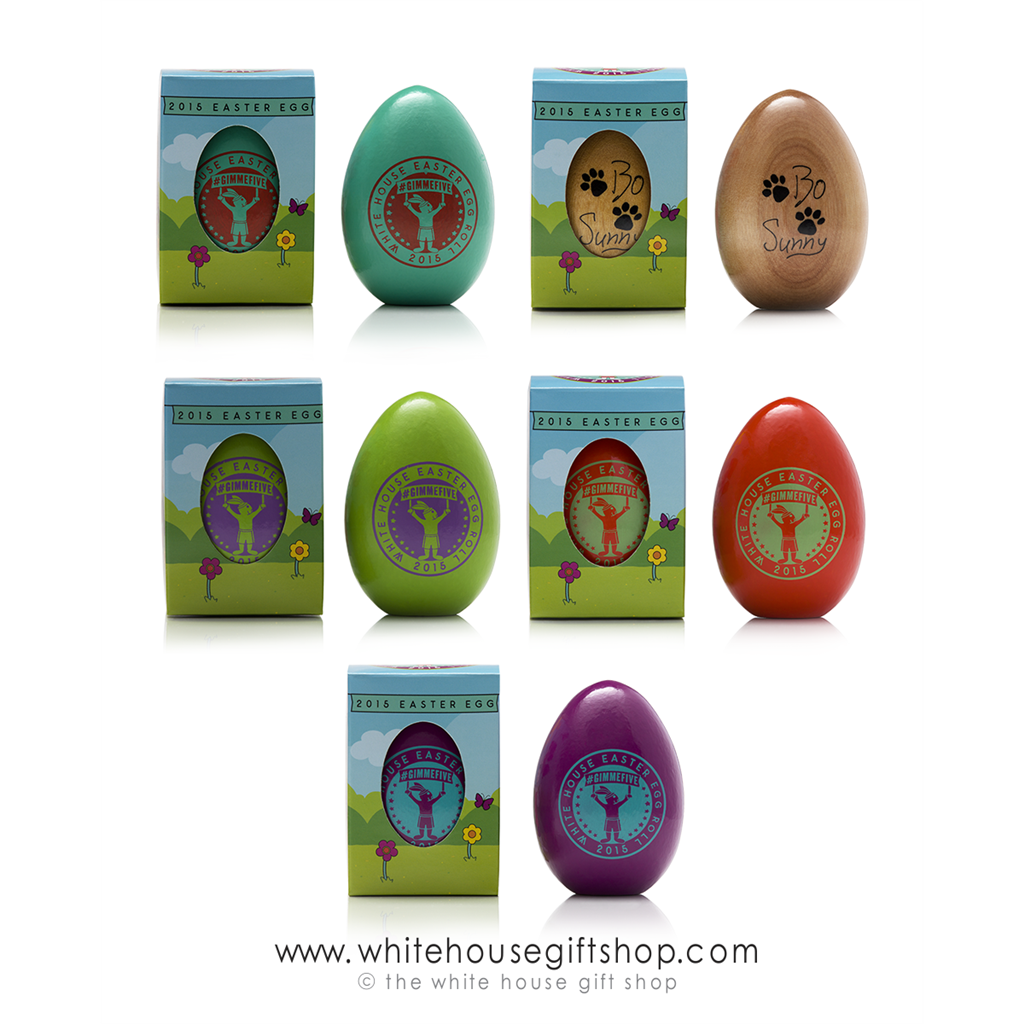 2015 White House Wood Easter Egg Very Rare Single Egg Annual Wooden Egg Roll Eggs President Barack Obama Signature Pick Your Color Usa Made