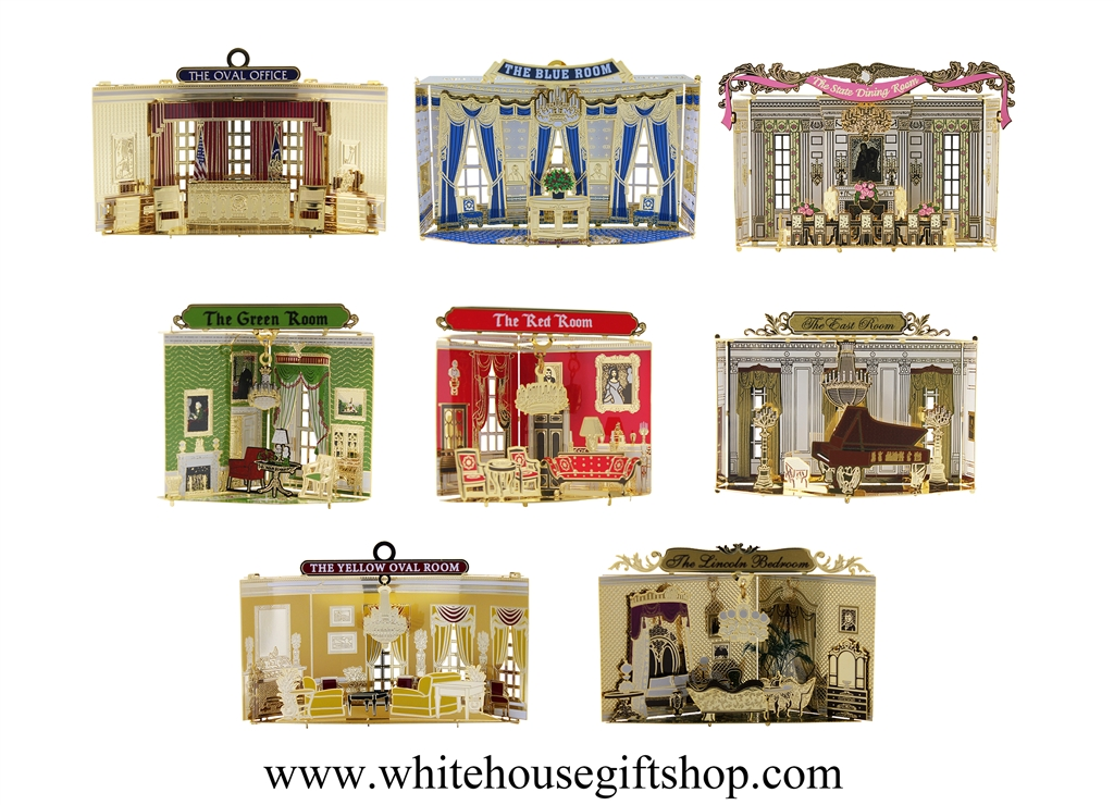 The Rooms of the White House, Giannini Design, Ongoing Series, Set of 8  Individually Gift Boxed, USA Handcrafted