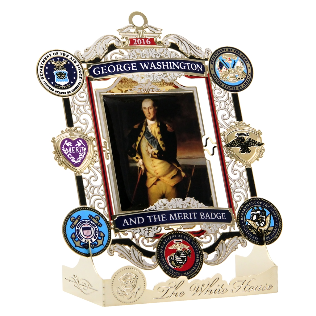 White house christmas ornaments historical society - 2016 White House Christmas Ornament George Washington