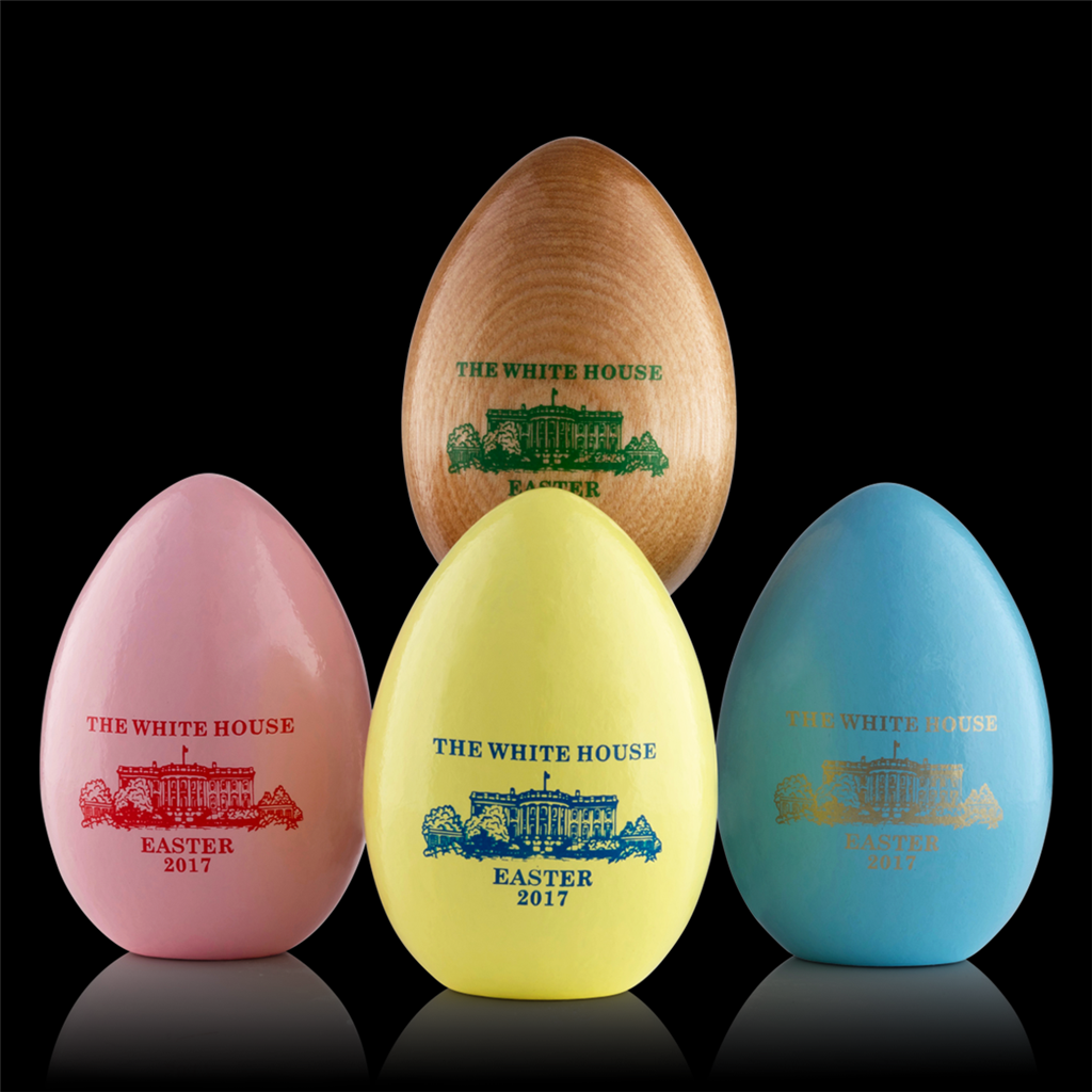 2017 Wooden Egg 1 Single White House Easter Egg Rare New Annual Collection Unsigned Made In Usa Hardwood Custom White House Gift Box