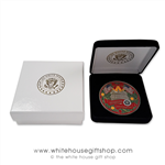 2018 and 2019 Greetings from the White House Coin with President Trump, Melania Trump, Vice President Pence and Karen Pence. President Coins From Official White House Gift Shop Secret Service Store Gifts, Coins, Ornaments Collection.