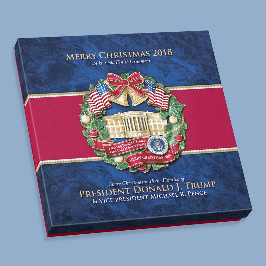 "2018 White House Ornament, 50% OFF SALE, ""Merry Christmas ..."