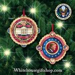 2018 White House Christmas  & Holiday Official Ornament from The Official White House Gift Shop Ornaments Gifts. President Donald J. Trump, 24-KT Gold, , Korrea Peace Talks Summit Coin Icon, New Era, New Leadership, New Generation, New Peace.