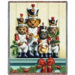 Holiday Teddy Bear Soldier Throw Blanket SALE
