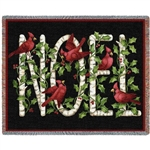 Noel Cardinals Holiday Throw Blanket SALE