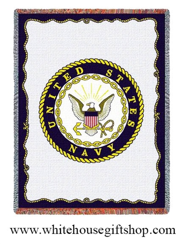 U.S. Navy Blanket & Throw, Official Naval Seal