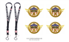 Doctors, Nurses, Essential Workers, Scientists: Heroes of COVID-19, 4 Gold Pins for Lanyard, Uniform, or Lapel. Designed by graphic artist Anthony F. Giannini for the original Secret Service White House Gift Shop.