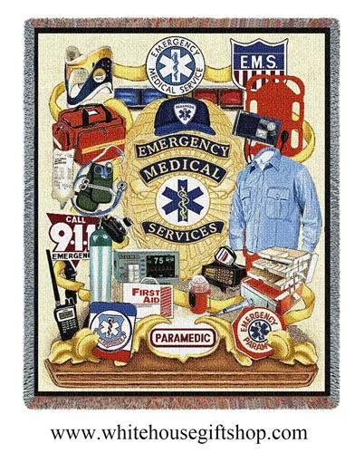 Emergency Medical Services Commemorative Blanket & Throw, Made in America
