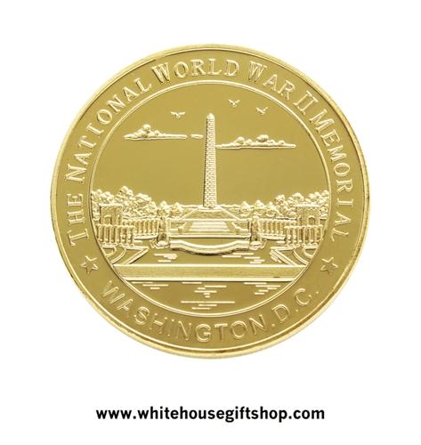 wwii challenge coins commemorating the world war ii memorial in