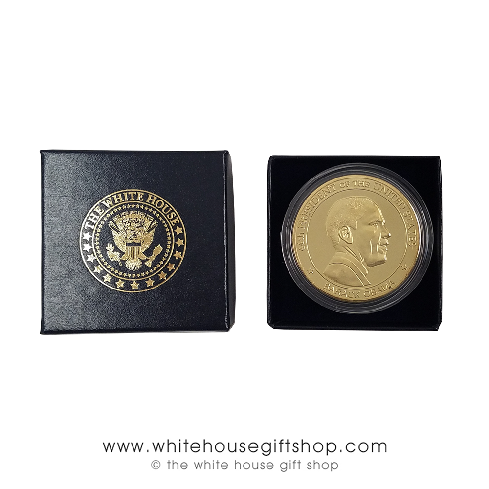 Details about  /OBAMA COIN CHALLENGE w CLEAR CASE 44th PRESIDENT USA FLAG EAGLE SEAL BARACK
