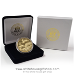 Washington D.C. Commemorative Coin in Display Case from the Official White House Gift Shop Established by Order of the President and Members of U.S. Secret Service. Photo by artist and designer Anthony Giannini.