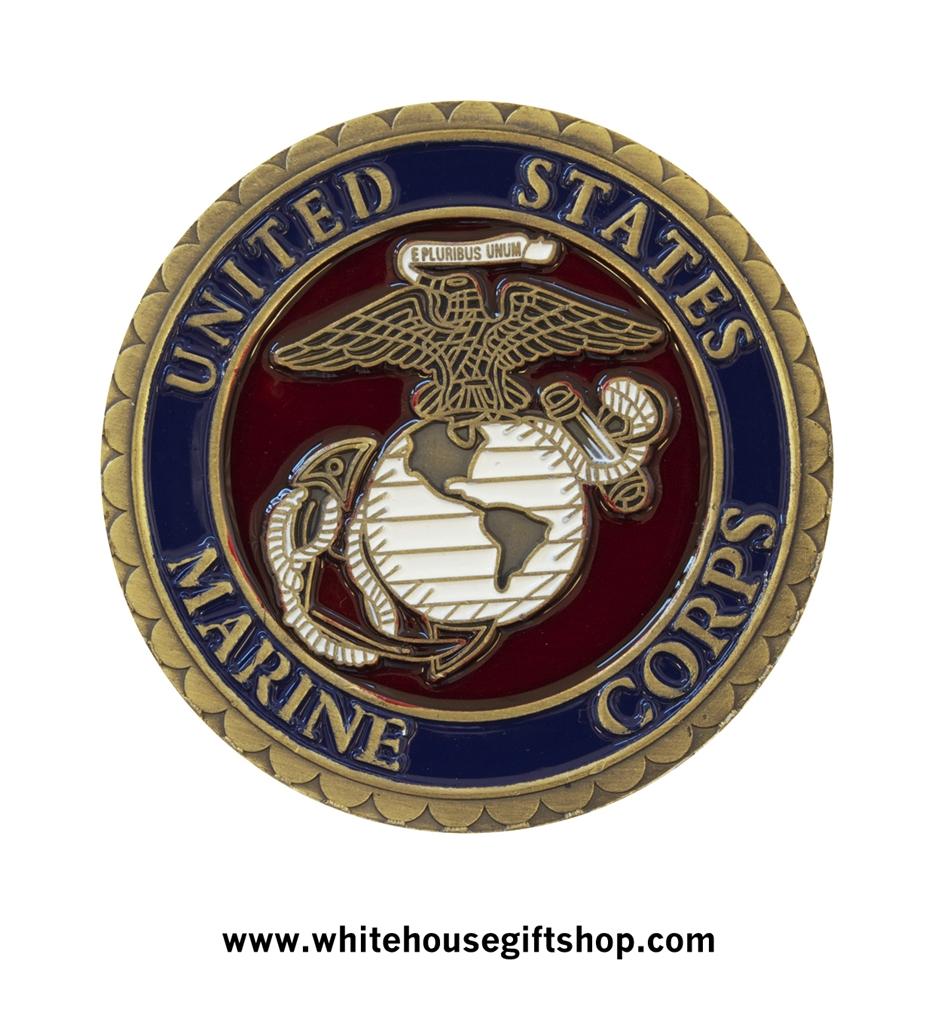 Challenge Coin, USMC, United States Marine Corps, Pewter ...
