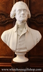 Jefferson White Stone Bust
