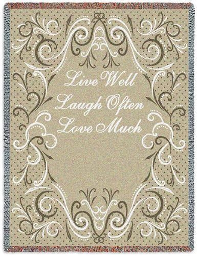 Live, Laugh, Love Throw Blanket, Great Gift SALE