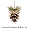 Pine Cone White House Ornament