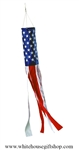 Embroidered American Flag 3-D Windsock