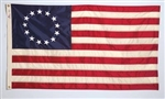 Betsy Ross United States flag, 3'x5', outdoor nylong, brass grommets, 100% Made in America, high quality