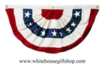American Flag Pleated Full Fan with Stars