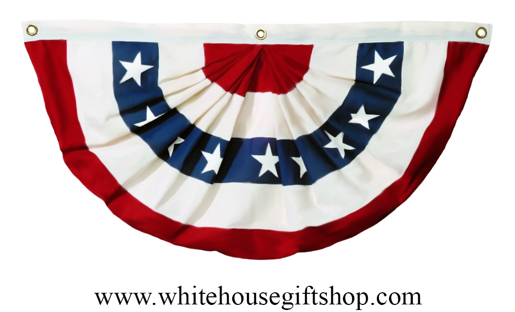 d5c9c53808 Flag Pleated Full Fan with Stars, USA, 3' x 6', Most Durable Material  Available, Designed for Daily, Year-Round Display, From the White House  Gift ...