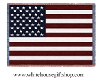 American Flag White House Blanket