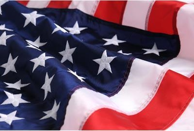 Made in the USA Flags, 4' x 6', Outdoor Quality Nylon flag, Densely Embroidered Stars, Made in America, Great item for rainy areas, quick dry fabric, from original official White House Gift Shop since 1946.