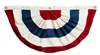 American Flag Made in USA, Pleated, 4' x 8'  Full Nylon Fan, Brass  Grommets to hang, Made in America, Heavy Duty Durable from White House Gift Shop Est 1946