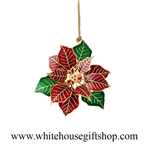Poinsetta White House Gift Shop Ornament