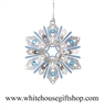 Jeweled Snowflake White House Ornament
