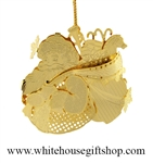 Jolly Santa White House Gift Shop Ornament