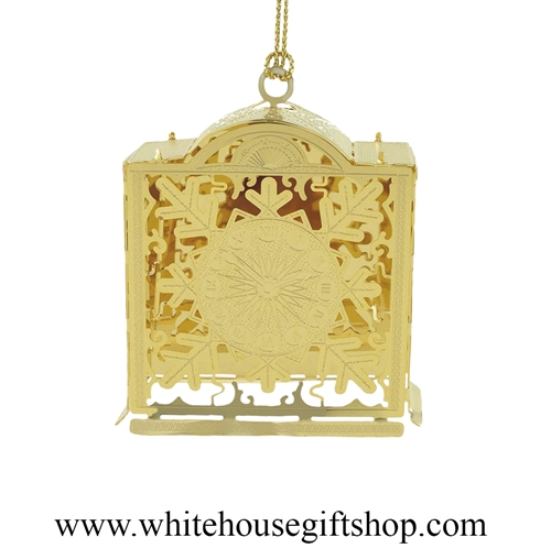 Christmas Clock White House Gift Shop Ornament