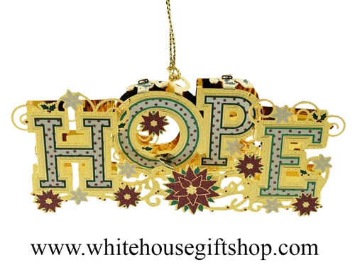 Hope 3D White House Ornament