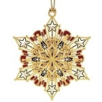 Snowflake Ornament with Stars and Jewels from the official White House Gift Shop