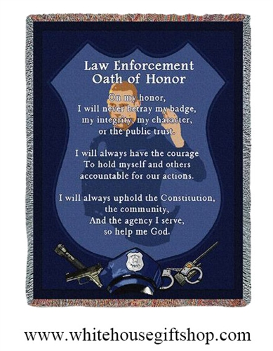 Police Oath Blanket & Throw