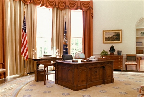The New American HMS Resolute Desk with Replica Oval Office is