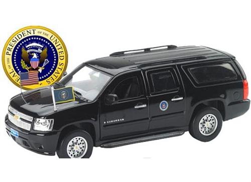 Car Presidential Limo Potus Escort Vehicle Suv Die Cast White