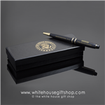 The White House Pen with Architecture and Display Box from Official White House Gift Shop Established by Presidential Order and Members of United States Secret Service.  Complete Presidents Pen Collection from Washington to Trump.