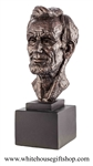 President Lincoln Finale bronze Bust 15.5""