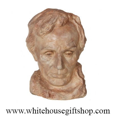 Head of Lincoln Redstone Bust