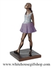 Ballerina Statue, Degas Dancer, 13.5 inches tall ,delicate, elegant with multi-color, high quality bronze finish