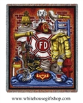 Fireman Blanket, throw, Firefighter Pride emblem