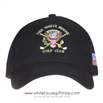White House Golf Club Hat, Made in America Cap, Black