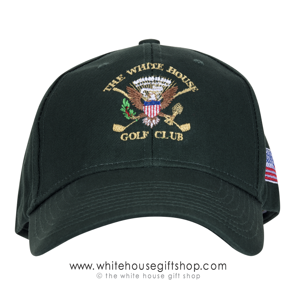 3758da7905b4a0 White House Golf Club Hat, Presidential Seal, Made in America Cap ...