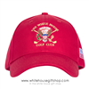 White House Golf Club Hat, Made in America Cap, Red,  Custom Embroidered