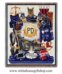 Blankets, Policeman Pride Blanket, Woven in the USA!