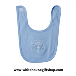 White House Presidential Eagle Baby Bib, Blue - MADE IN AMERICA