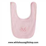White House Presidential Eagle Baby Bib, Pink - MADE IN AMERICA