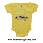 Baby Onesie Bodysuit, yellow, 100% cotton