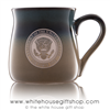 Air Force One Presidential Extra Large 26 Ounce large Bistro Mug, etched in America, United States Eagle, quality mugs from official White House Gift Shop.