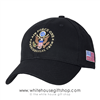 Air Force One Presidential Crew Hat, Black, Made in the USA of America, Embroidered official baseball cap, USAF, Great Seal of the United States, military hats head gear, President Trump