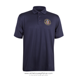Air Force One Presidential Crew Polo Shirt, Made in USA, blue, hi-tech comfort fabric